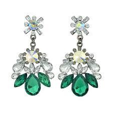 latest rhinestone colorful crystal big luxury chandelier earrings
