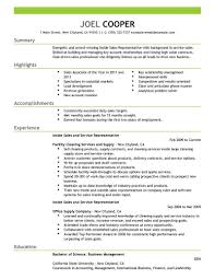 Resume Objective For Inside Sales Rep Therpgmovie