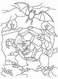 Pokemon Golem Coloring Pages For Kids
