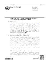 report of the secretary general on the african union united report of the secretary general on the african union united nations hybrid operation in darfur s 2016 1109 en ar sudan reliefweb