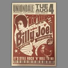 The official instagram account of billy joel. Billy Joel Event Poster For Final Show At Nassau Coliseum Collectionzz