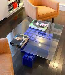 blue everblocks lego coffee table