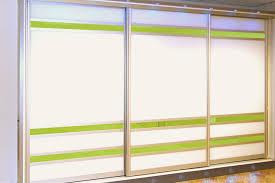 bright white lime zest glass sliding doors