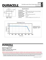 Silver Oxide Battery Chart 0 Zn Ag D377 Zinc Monovalent Silver Oxide Watch Battery