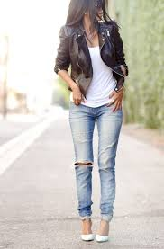 25 ways to wear leather jacket with jeans 2019