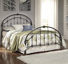 Metal Bed Bedroom Signature Design By Ashley Nashburg Queen Arched Metal Bed In
