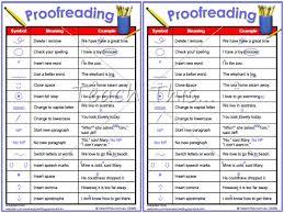 Proofreading Symbols Printable Alphabet Grammar Writing