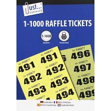 Raffle Ticket Booklets Raffle Tickets Booklet 1 To 1000 Stationery Supplies At The Works