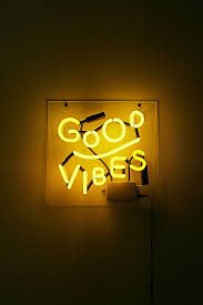 Good Vibes Light Up Sign Honeymoon Hotel Good Vibes Only Art Print Aesthetic Colors