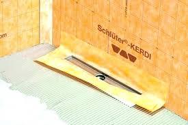 line linear drain installation shower drains kerdi kit grating