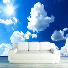 sky wallpaper for walls custom photo wallpaper blue sky white clouds sunshine landscape large murals wall