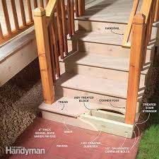 outdoor stair railing diy family