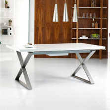 images of dining room furniture. Crossed Leg Gloss Extending Dining Table White Images Of Room Furniture A