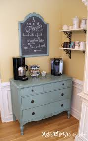 coffee bar server w shelves it moved coffee bar ideas bar coffee bar server w shelves old antique dresser to coffee bar annie sloan chalk paint graphics in place of the hutch