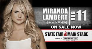 Wisconsin State Fair Potawatomi Main Stage Seating Chart Miranda Lambert With The Farm Potawatomi Hotel Casino