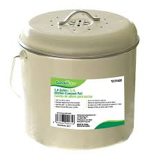 garden plus 1 4 gallon kitchen compost pail