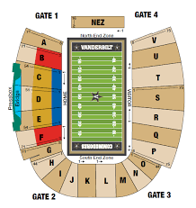 Illinois Seating Chart Football Football Seating Chart Vanderbilt University Athletics