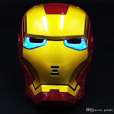 Cool Halloween Super Hero Avengers Spiderman Iron Man Mask Rabbit For Childrenu0027S  Kids Birthday Party Cosplay Heros Gifts Masquerade Eye Mask Light Toys Poi  ...