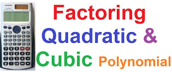 how to factor quadratic and cubic polynomials on casio fx 991es scientific calculator