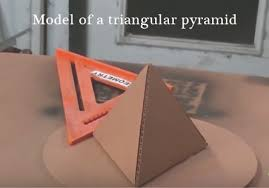 science projects for class working model project reports model of a triangular pyramid