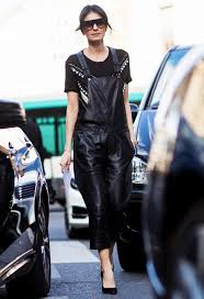 leather overalls for women 2