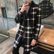 <b>2019</b> Autumn and Winter FashionMen's Long <b>Slim Temperament</b> ...