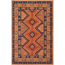 artistic weavers arabia nadine orange rectangular 2 ft x 3 ft rug