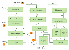 Rice Milling Flow Chart Commercial Rice Milling Systems Irri Rice Knowledge Bank