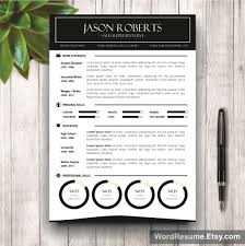 Black And White Resume Template Jason Roberts Creative Resume Templates