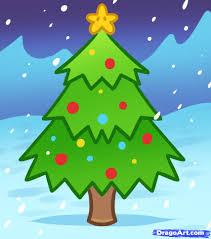 Christmas For Kids Christmas Tree Drawing