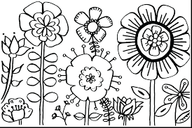 Flower Coloring Pages Printable Of A Daisy Small Flowers