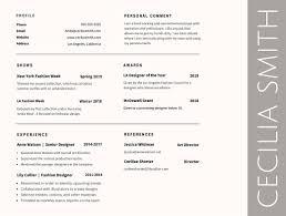 Resume Resume Font Type