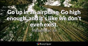 Go Up In An Airplane Go High Enough And It's Like We Don't Even Inspiration Airplane Quotes