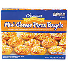 mini cheese pizza bagels