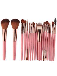 18pcs multipurpose makeup brushes set pinkish brown