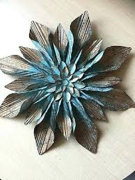 fl metal wall decor large rustic copper turquoise flower metal wall decor gorgeous accent metal flower fl metal wall decor