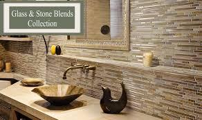 Glass And Stone Kitchen Backsplash Tile Bathroom Tile Enchanting Tile Backsplash In Bathroom