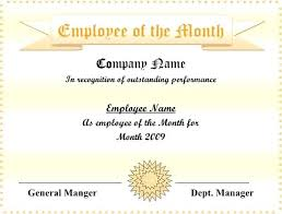 Employee Of The Month Certificate Templates Green Nature Photo Employee Of The Month Certificate Template With