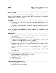 Entry Level Qa Tester Resume Qa Tester Resume With 5 Years