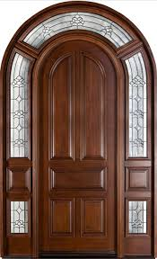 Solid Diyar Wood Double Door With Solid Sides Frame Hpd Main - Hardwood exterior doors and frames