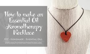 diy essential oil aromatherapy necklace
