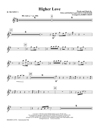 Respect Horn Charts Pdf Higher Love Bb Trumpet 1 By Will Jennings And Steve
