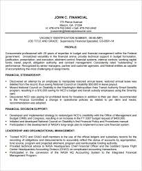 federal resume federal resume template financial manager job all best cv resume ideas