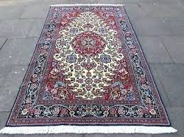 white persian rug white rug fine old hand made traditional rugs oriental wool blue white persian rug