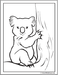 Small Picture Koala Coloring Pages For Kids Hop A Ride With a Koala