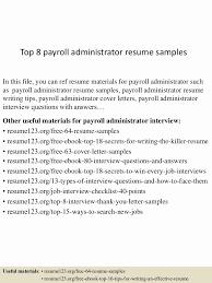 Payroll Administrator Job Description Registered Nurse Resume