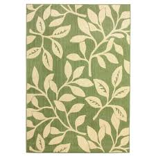hampton bay fl reversible cream green flat woven weave 5 ft x 7 ft
