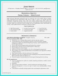 Sample Resume Objectives Pharmacy Technician Lovely Veterinary