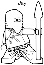 Small Picture Ninjago Jay Coloring Pages Lego Ninjago Jay Zx Coloring Page Free