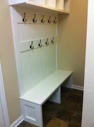 Mudroom Bench With Coat Rack Simple Interior Furnishings Carpenter Made White Hardwood Coat Rack 44